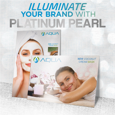 Platinum Pearl Business Cards